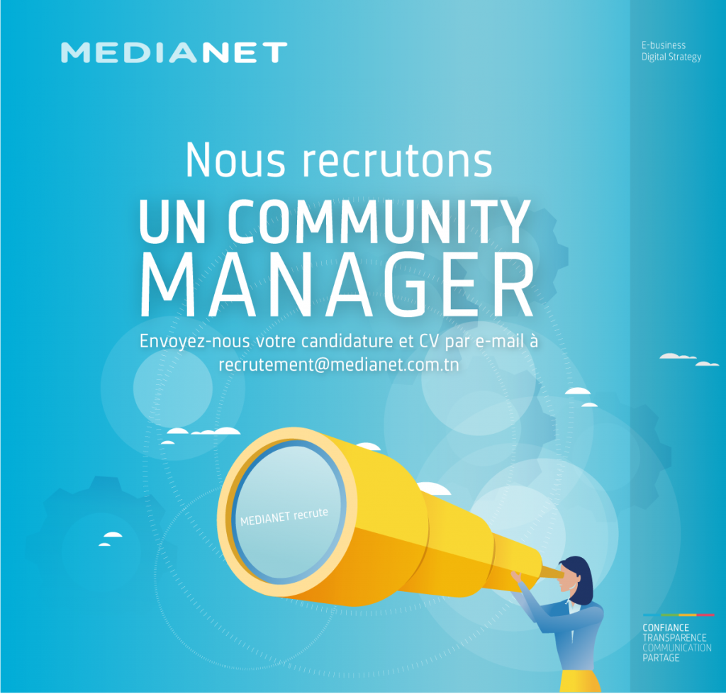 medianet        recrute     un e  community manager